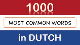 dutch vocabulary for beginners